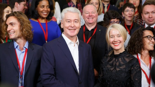 Sergey Sobyanin, Mayor of Moscow; Justine Simons, London Deputy Mayor for Culture & Creative Industries and Chair, World Cities Culture Forum