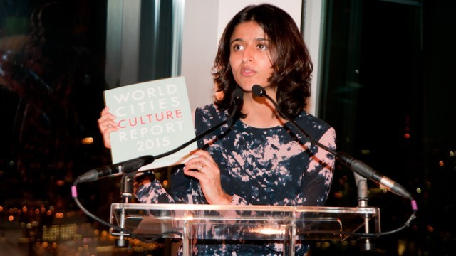 Munira Mirza, Deputy Mayor for Education and Culture, Mayor of London's Office, launches 2015 World Cities Culture Report at The Shard