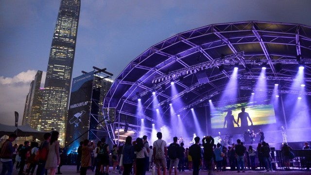 Clockenflap Music and Arts Festival at West Kowloon Cultural District  Courtesy of WKCDA