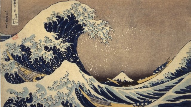 Under the Wave off Kanagawa  Also known as  The Great Wave, from the series Thirty-six Views of Mount Fuji By Katsushika Hokusai from the collection of Edo-Tokyo Museum