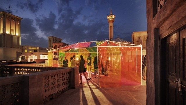 Sikka Art Fair outdoor gallery Courtesy of Dubai Arts and Culture Authority