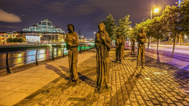 Famine Memorial Courtesy of Dublin City Council