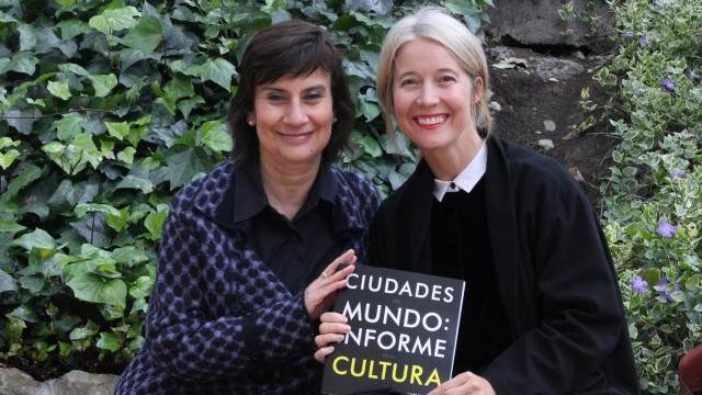 Clarisa Ruiz Correal, Secretary of Culture, Leisure and Sport Department, City of Bogotá; Justine Simons, Head of Culture, Mayor of London's office and Chair of the World Cities Culture Forum