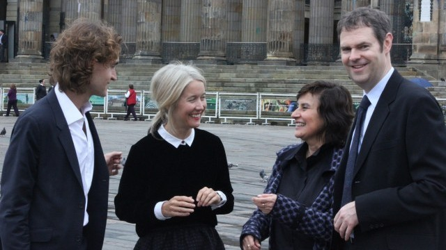 Matthieu Prin, Project Manager of the World Cities Culture Forum; Justine Simons, Chair of the World Cities Culture Forum; Clarisa Ruiz Correal, Secretary of Culture, City of Bogotá; Richard Naylor, Director of Research at BOP Consulting