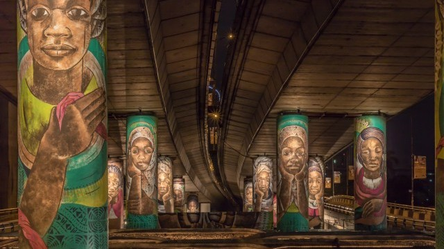 Oluwarantimi by Polly Alakija, public art project commissioned by Lagos State Government. Photo © Tayo Adeoye