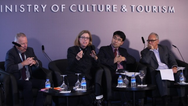 Tim Jones, President, Artscape; Laura Zucker, Executive Director, Los Angeles County Arts Commission; Hae-Bo Kim, Head, Department of Policy Research, Seoul Foundation for Arts and Culture; Hans-Georg Knopp, Senior Research Fellow, Hertie School of Governance, Berlin