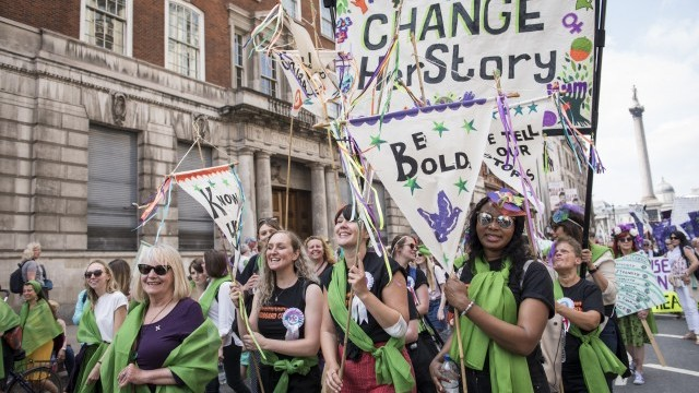 PROCESSIONS: Living artwork to celebrate 100 years of votes for women, 2018 Photo © Greater London Authority