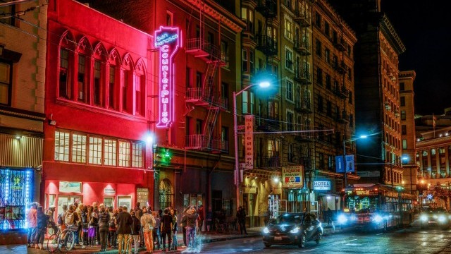 Neon Lighting Event. Photo © Scott inn. Courtesy of San Francisco Arts Commission.