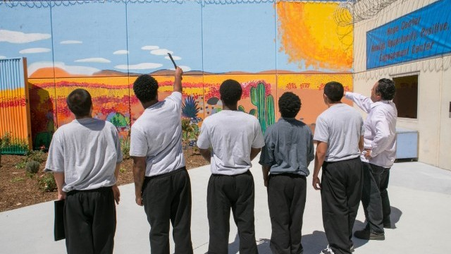 Onizuka Hope Center Mural Courtesy of Los Angeles County Arts Commission
