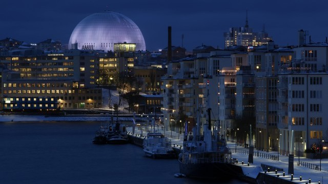 The Globe at night Photo © Sören Andersson, Courtesy of City of Stockholm