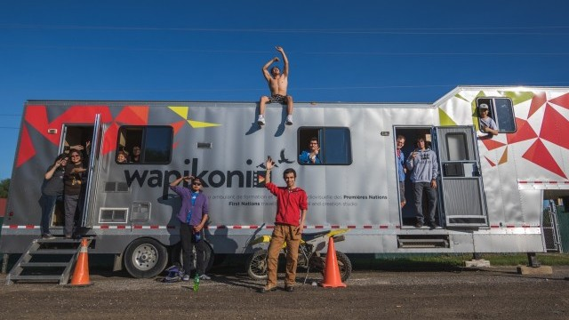 Wapikoni, First Nations travelling studio for training and audiovisual production Image courtesy of City of Montréal © Mathieu Buzzetti Melançon