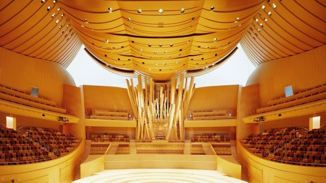Interior of Walt Disney Concert Hall Courtesy of Los Angeles County Arts Commission