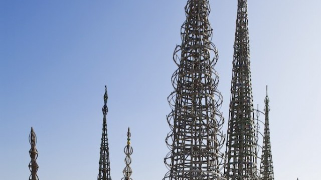 Watts Tower Photo © Robert Berger. Courtesy of LACAC/ City of Los Angeles