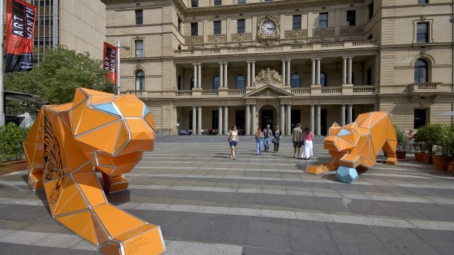 Origami Tigers Courtesy of City of Sydney