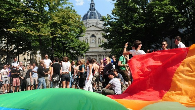Gay Pride Parade, Place de la Bastille, Paris Photo © Alfred/SipaPress, Courtesy of IAU Ile-de-France