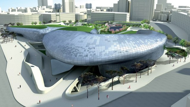 Dongdaemoon Design Plaza Courtesy of Seoul Foundation for Arts and Culture