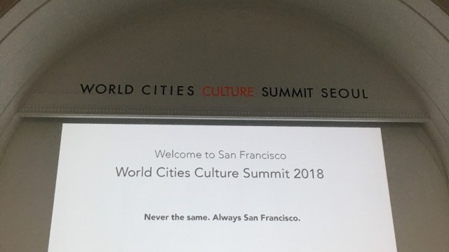 San Francisco to host World Cities Culture Summit in 2018