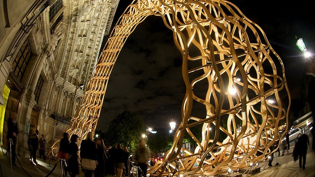 Timber Wave at London Design Festival Photo © Greater London Authority