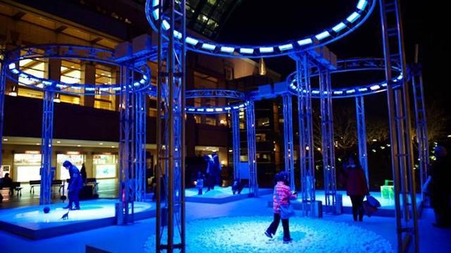 "Yebisu International Festival for Art and Alternative Visions ""Time Lapse Plant (4 Rings)"" 2010, Takayuki Fujimoto/ Daito Manebe/ Motoi Ishibashi Courtesy of Tokyo Metropolitan Museum of Photography Photo: Shoko Ogushi"